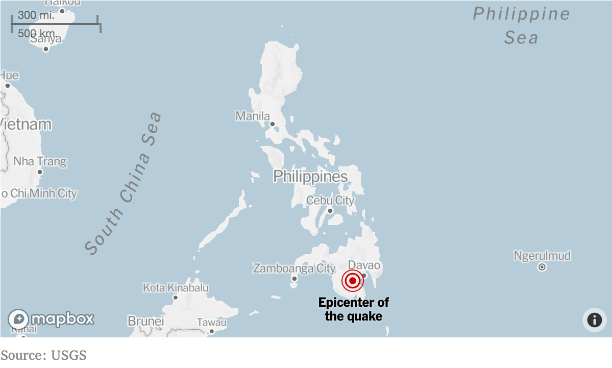Our sister city in the Philippines struck by several earthquakes