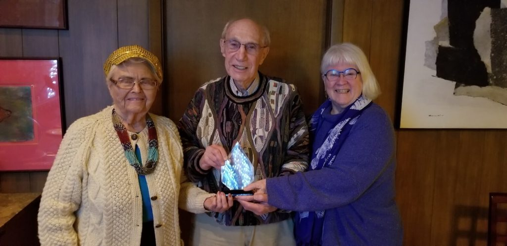 Jack Warnick receives the TSC Sylvia Sass Outstanding Achievement Award
