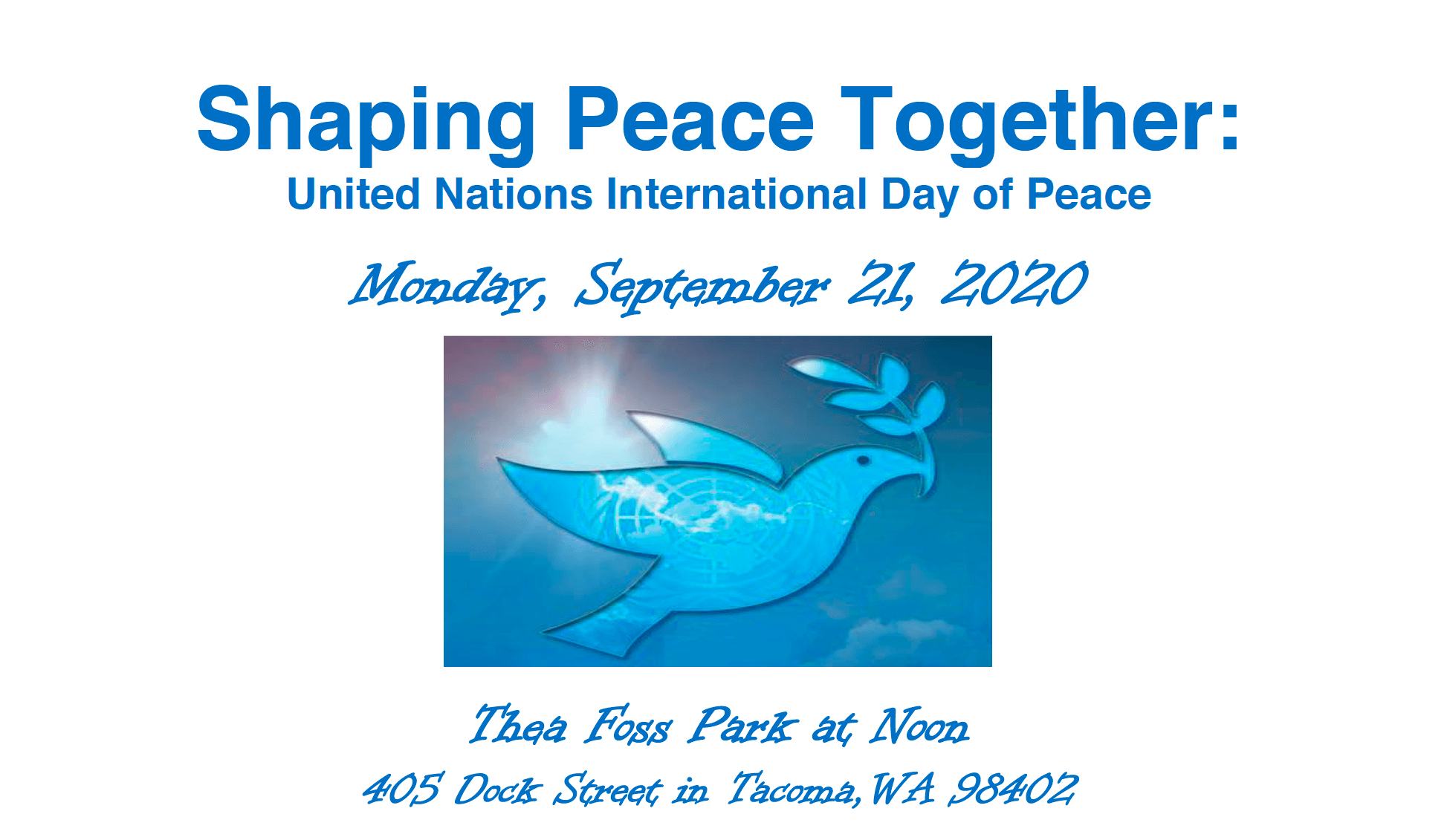 Shaping Peace Together: UN International Day of Peace